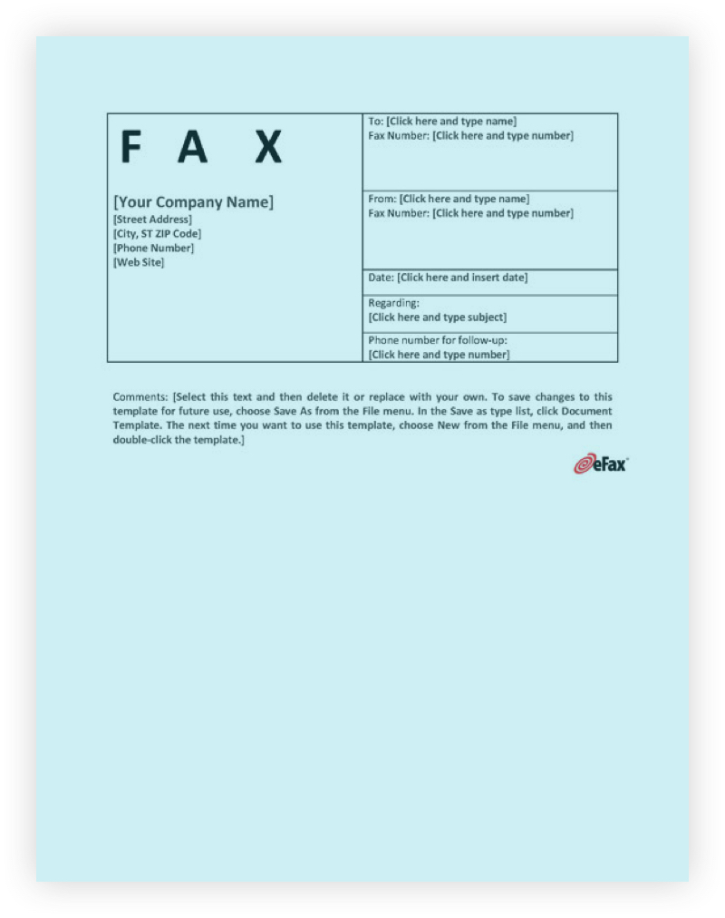 Fax cover page three